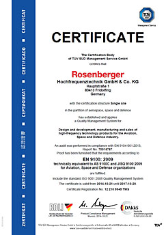 Successful re-certification according to DIN EN 9100